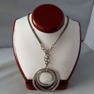 Chicos jewelry chicos fashion necklace silver tone white pendant chicos jewelry chicos fashion necklace silver tone white pendant aloadofball Gallery
